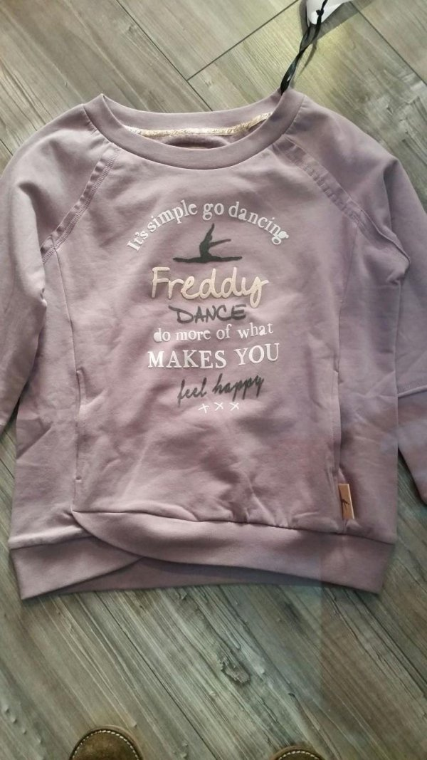 maglietta freddy rosa scritte