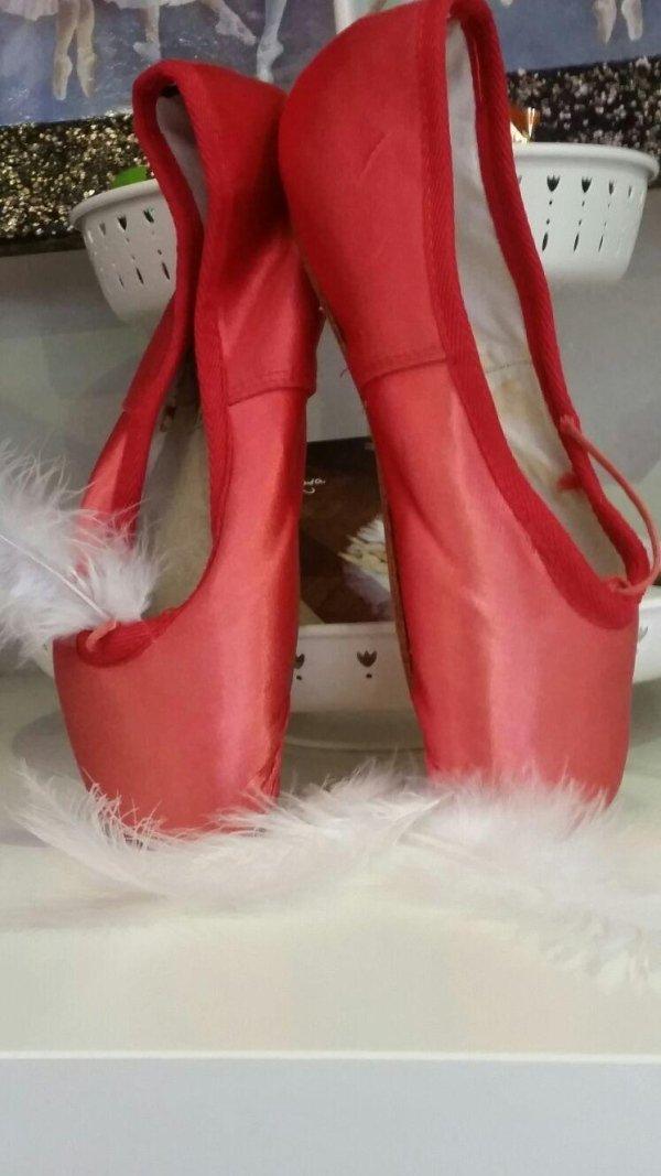 scarpette balletto rosso