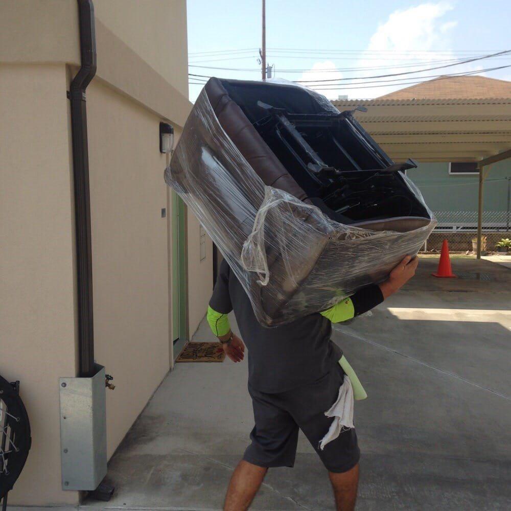 Movers unloading the van