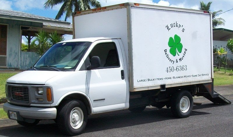 Lucky's delivery and moving services mini truck