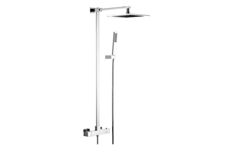 Complete shower column, brass