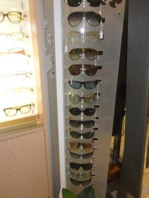 occhiali in esposizione