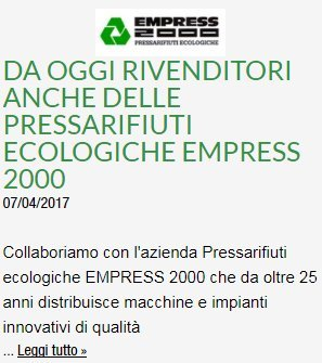 rivenditori pressarifiuti ecologiche