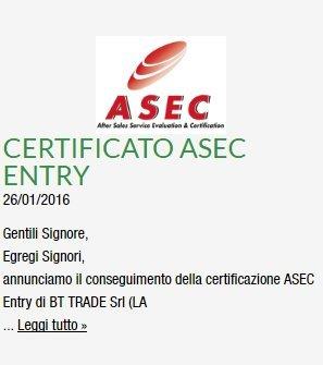 certificato ASEC