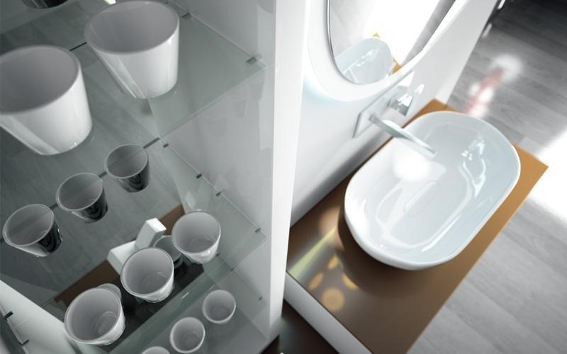bagno bianco lucido