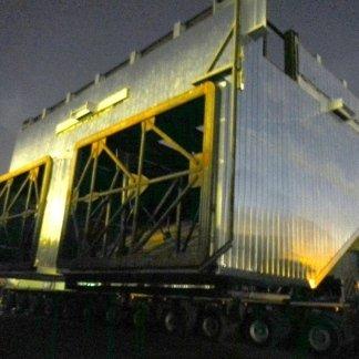 Corpo denox reattore in fase di trasporto