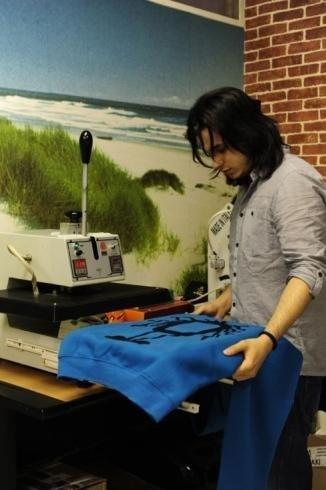 Printing on shirts