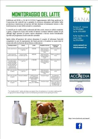 Monitoraggio latte