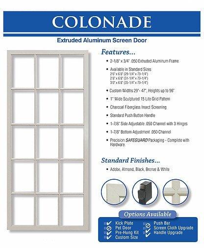 kingu0027s glass colonade screen door