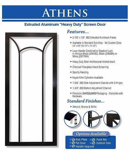 king's glass athens screen door
