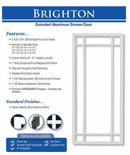 king's glass brighton screen door