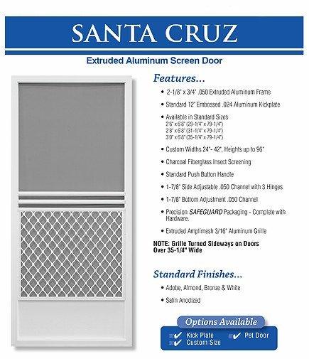 king's glass santa cruz screen door