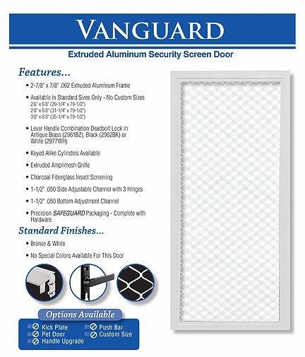 king's glass  vanguard screen door