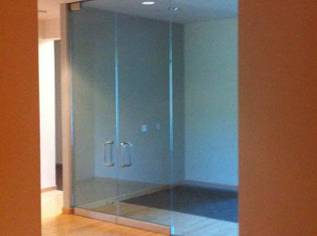 image of glass shower enclosure