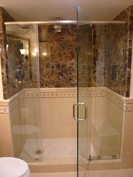 image of glass shower door