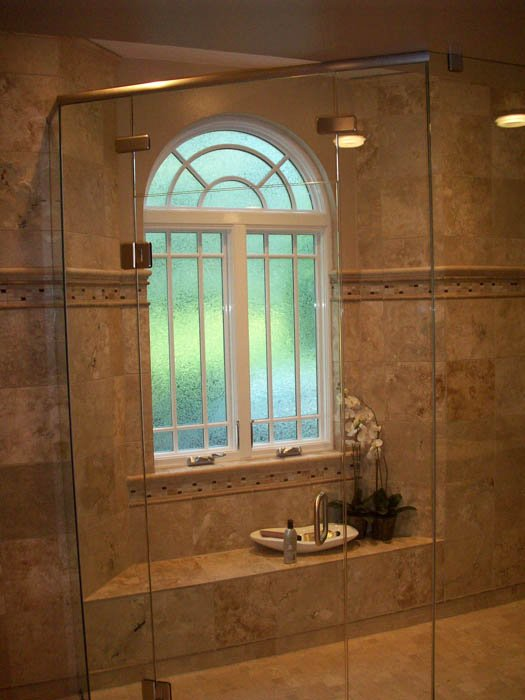 image of glass shower enclosure and windows