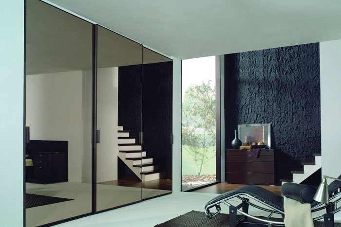 image of glass closet doors