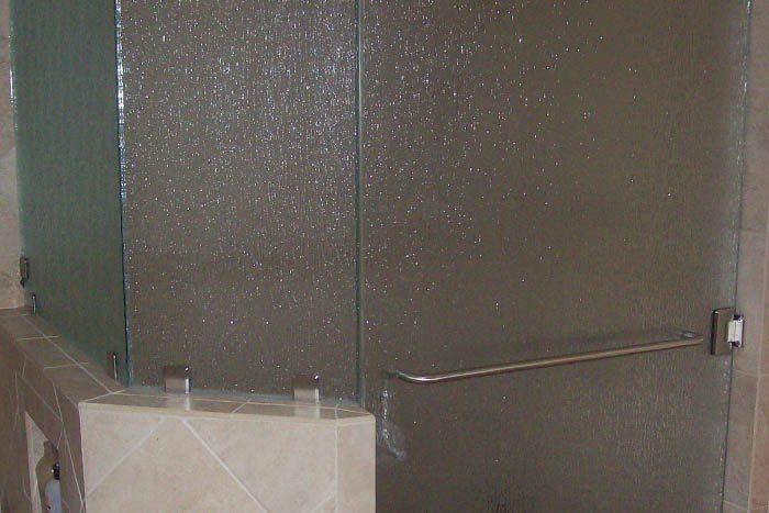 king's glass  textured shower door glass