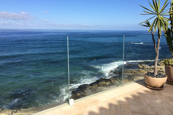 king's glass glass wall ocean view