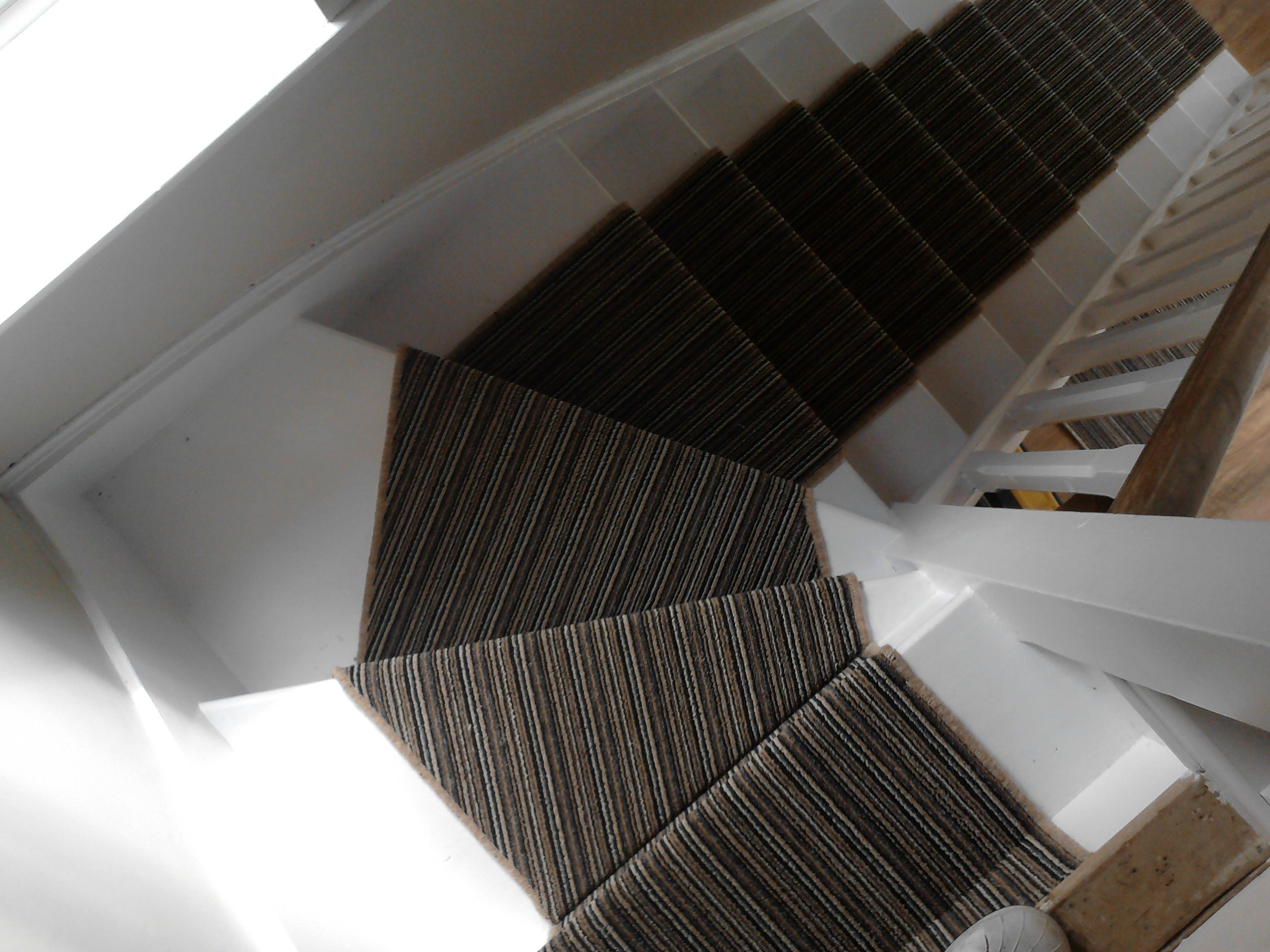 covering on marble stairs