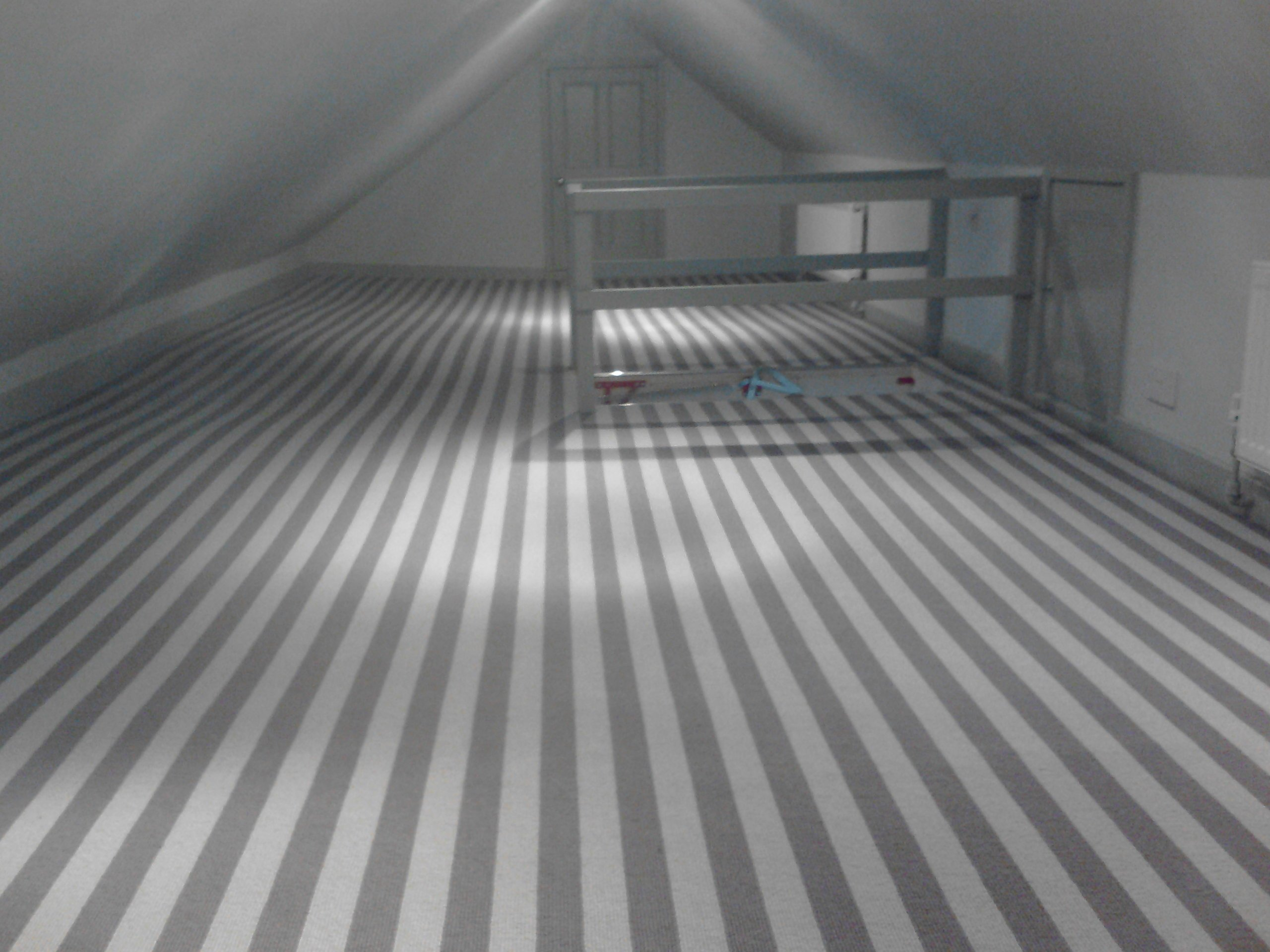 beautiful striped floor covering