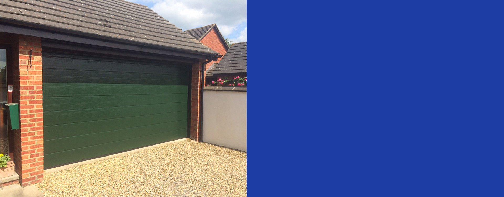 Space Saving Sectional Garage Doors Fitted In Bedfordshire