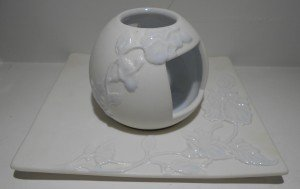 bollitore ceramica bianca