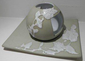 portacandela ceramica