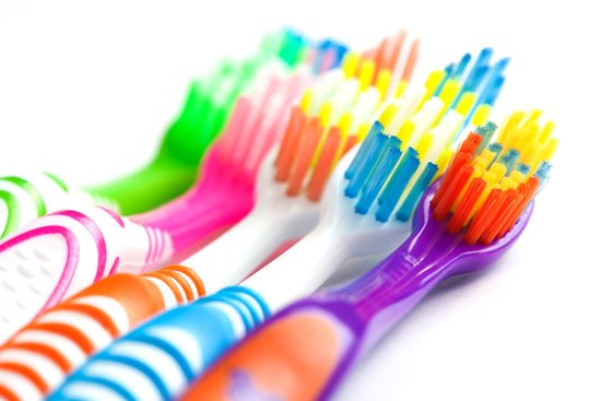 toothbrushes colourful
