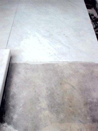 restauro del marmo