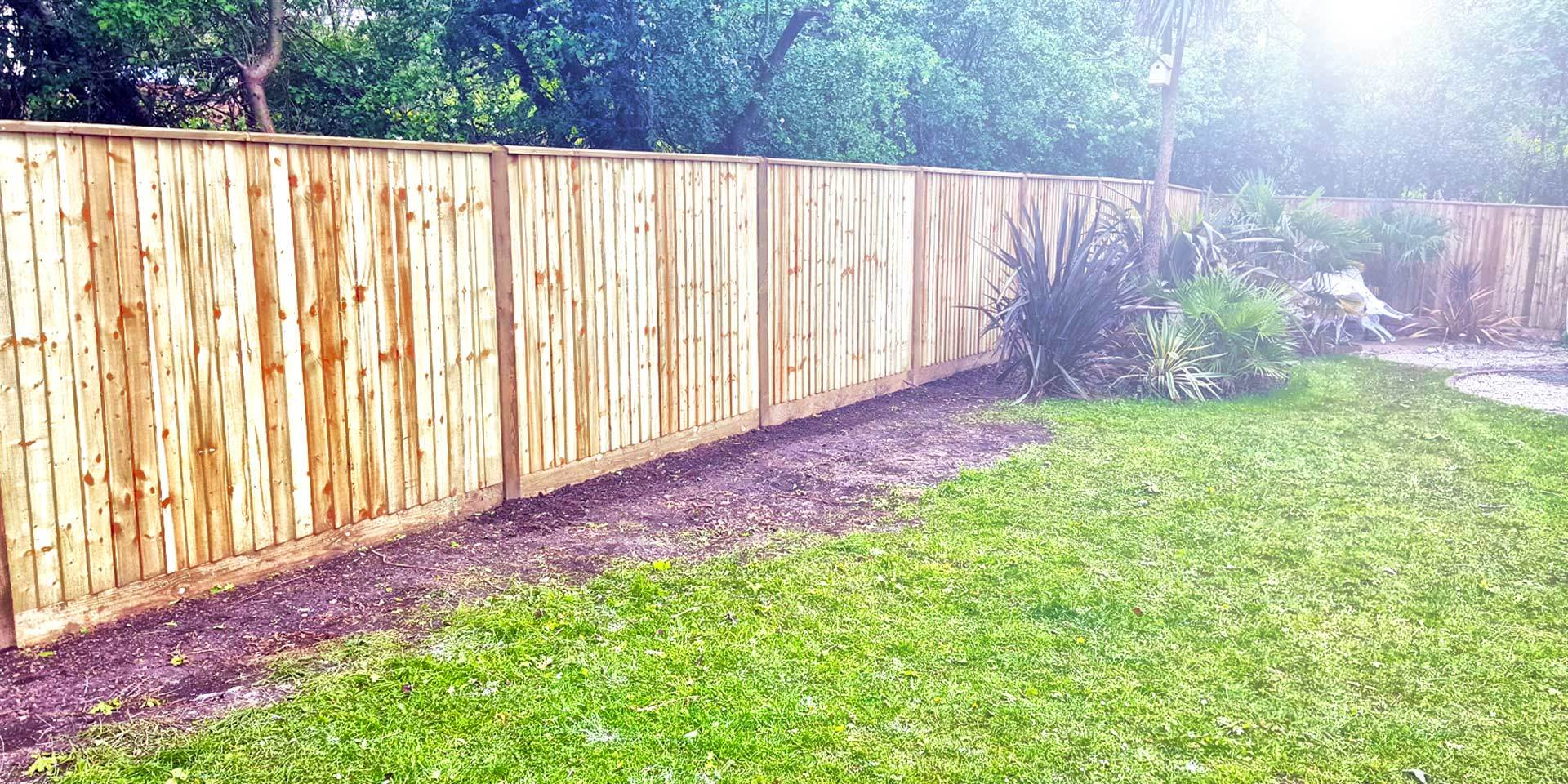 image of our high quality custom build fences
