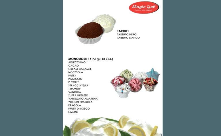 tartufi e dolci monodose
