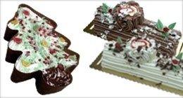 gelato a forma di alberello di Natale
