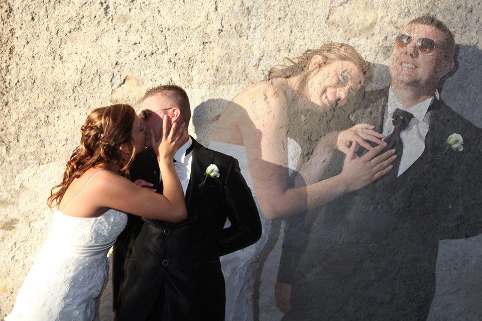 Montaggio di una foto di nozze