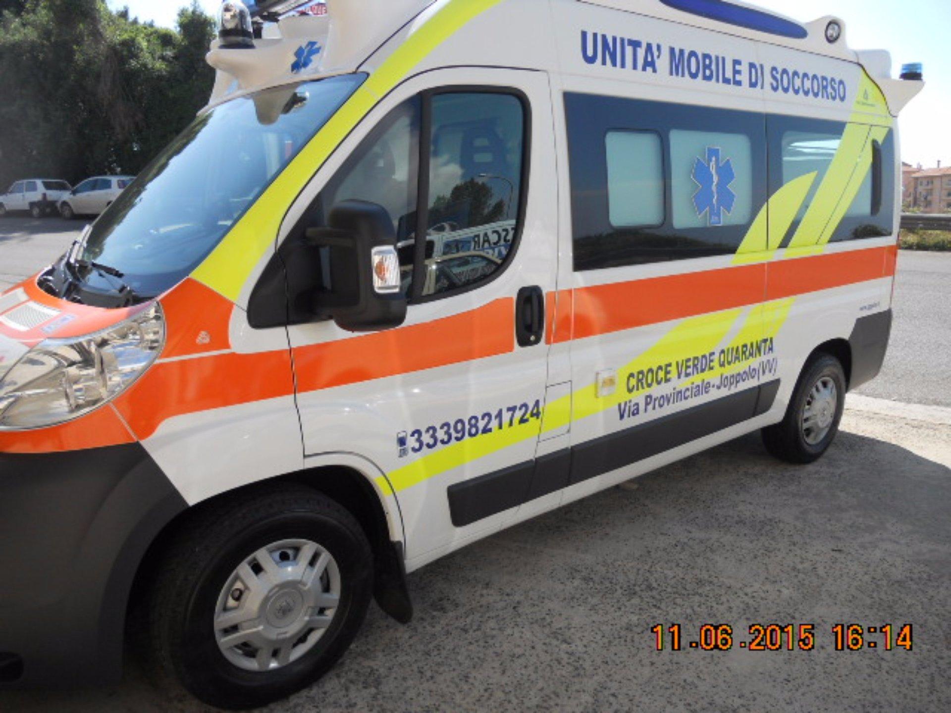 Primo piano de l'ambulanza