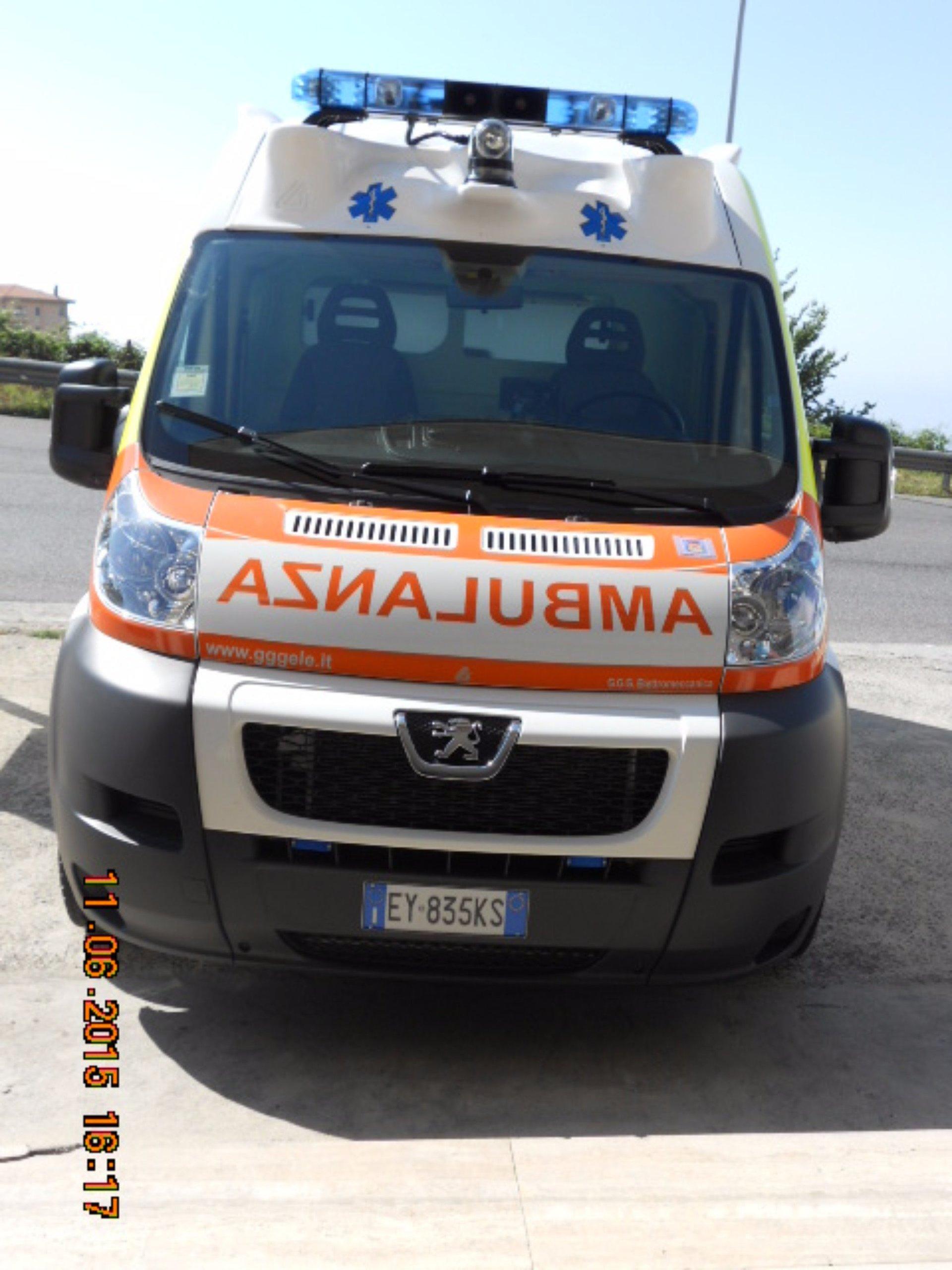 Frontal dell'ambulanza