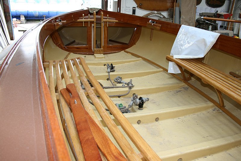 inside the boat