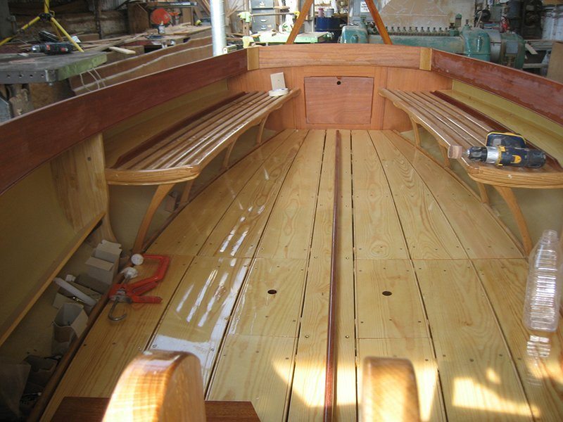 Yare boat being constructed
