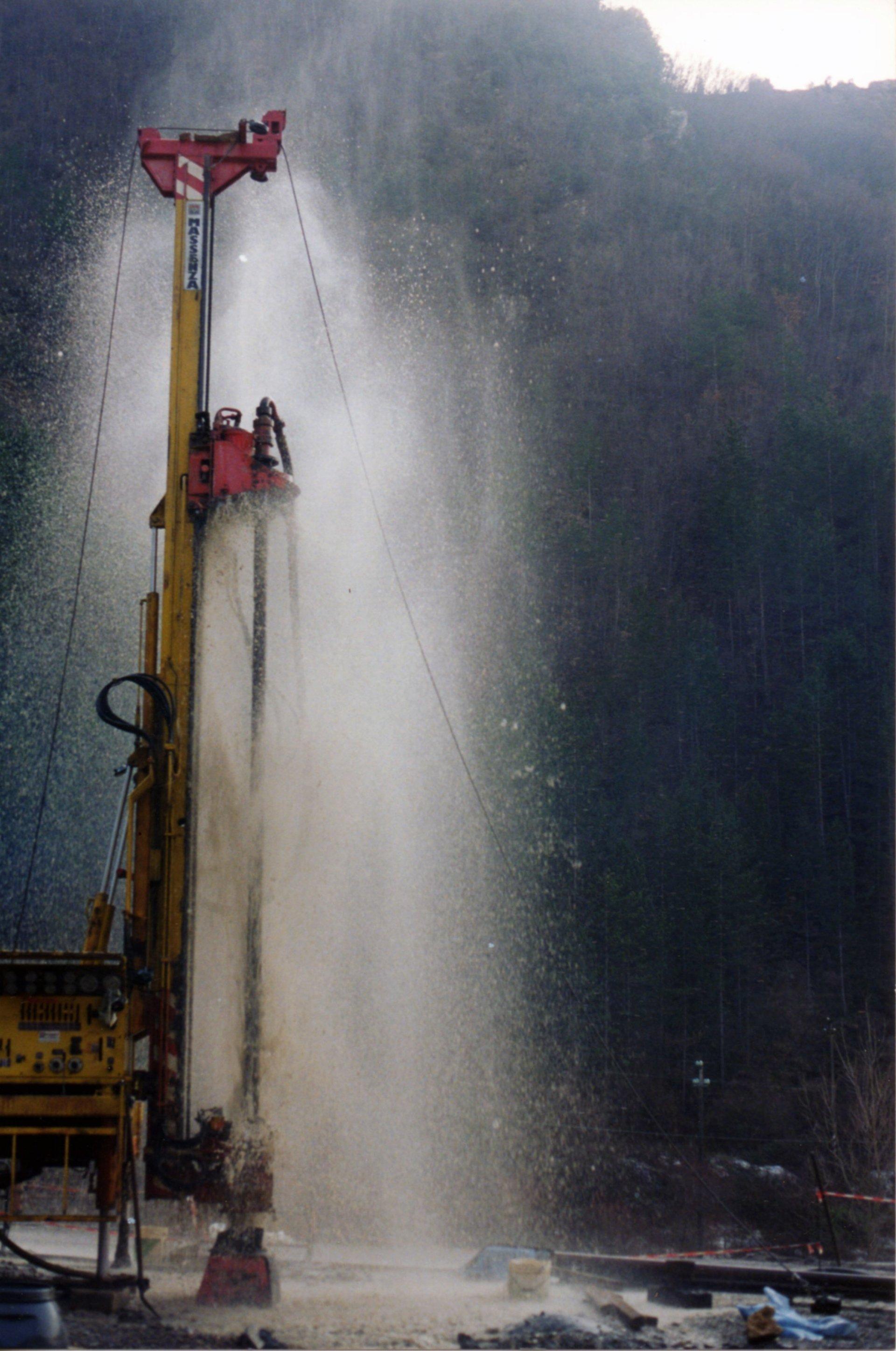getto di acqua ad alta pressione