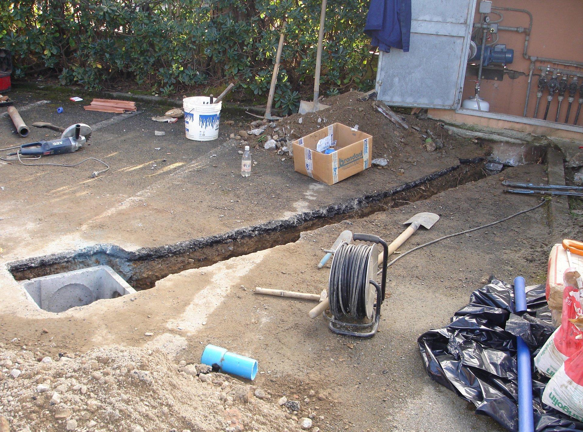 scavi per pompa sommersa