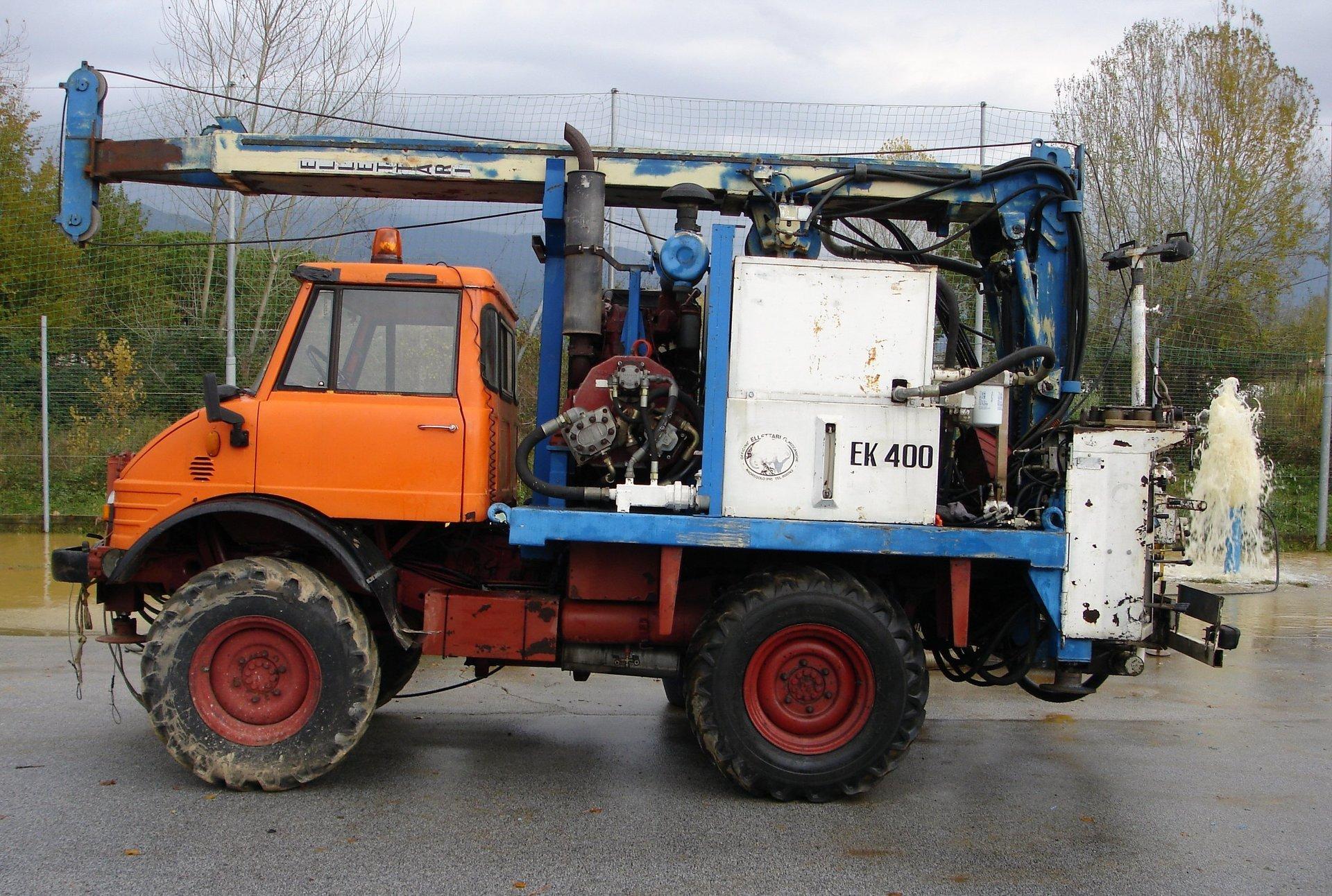 camion per trivellazioni