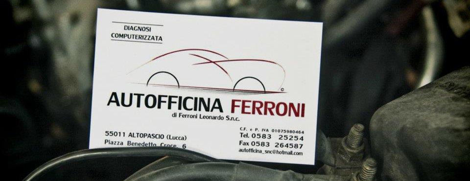 autofficina ferroni - biglietto da visita