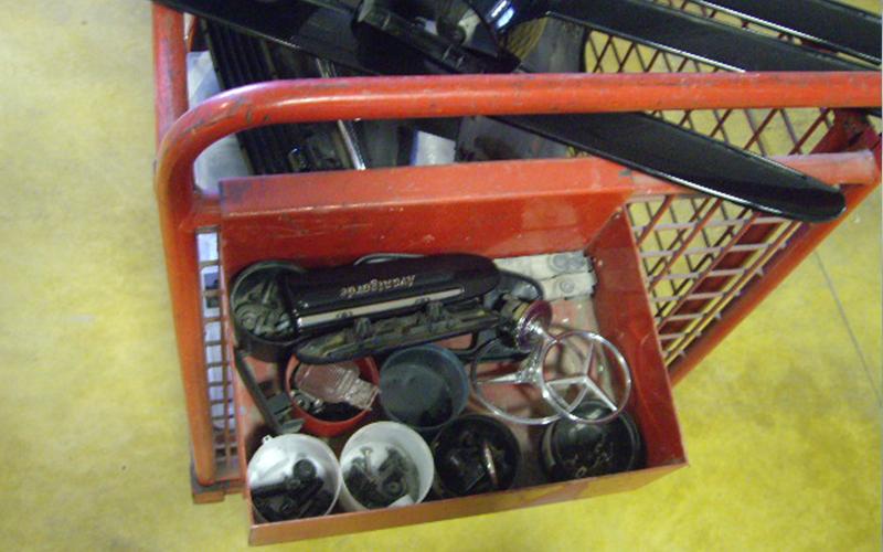 cesti contenitori ricambi