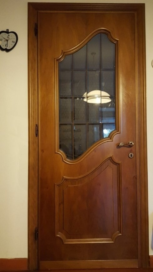 porte da interno classiche con inserto in vetro