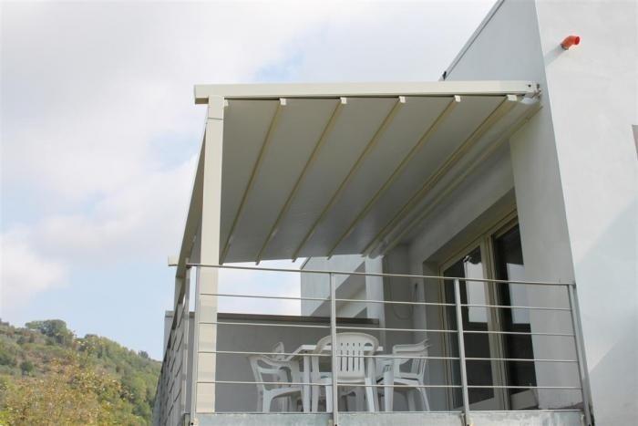 verelux cover Struttura in alluminio con tenda richiudibile con impacchettamento ad onde