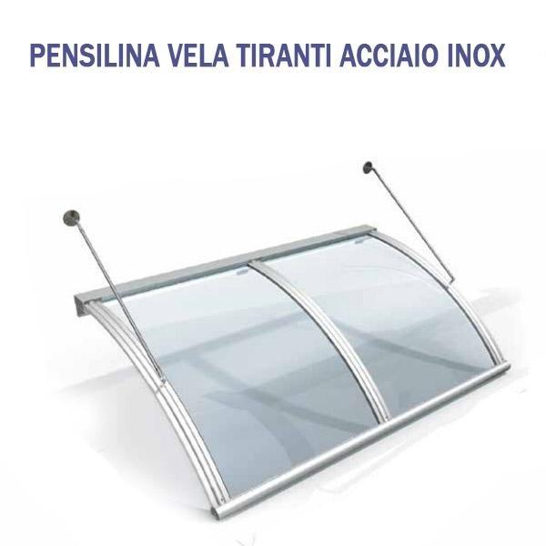 PENSILINA VELA TIRANTI ACCIAIO INOX