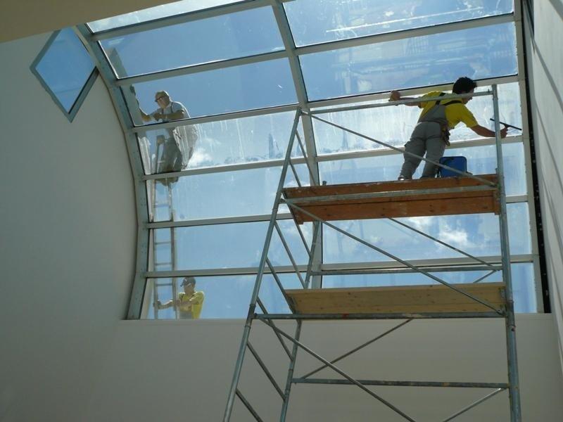 pulizie di tetti in vetro