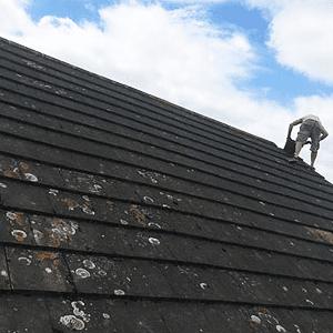 black roofing