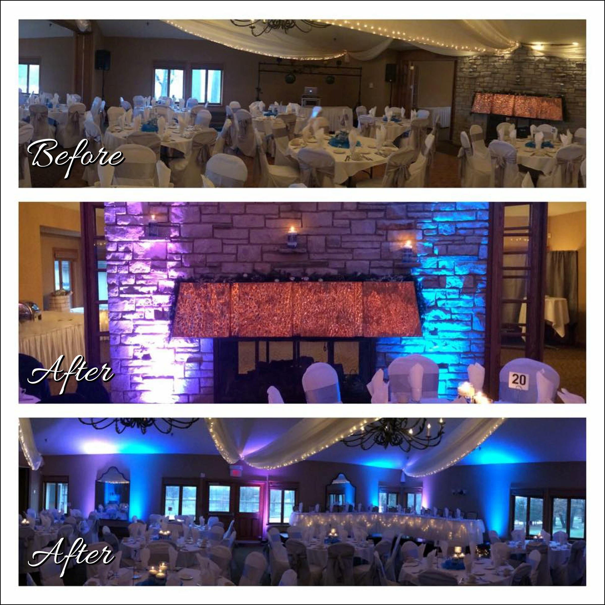 Uplighting Image, Wedding DJ, Majestic Oaks Golf Club, Ham Lake, Minnesota