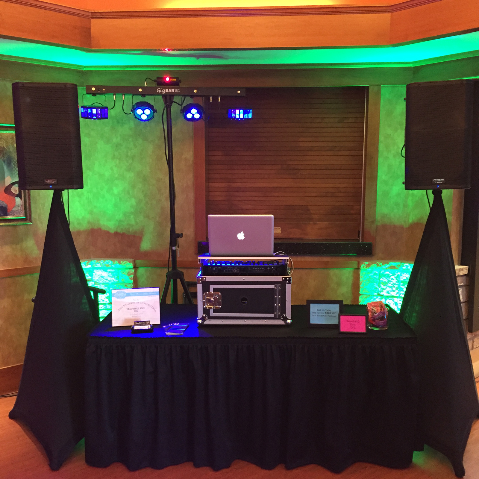 Wedding Showcase DJ Booth, Crown Room Banquet Center, Rogers, Minnesota